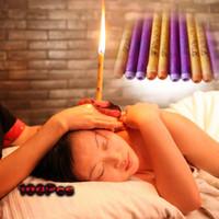 Heißer Verkaufs-100Pcs = 50Pairs preiswerte und hochwertige Therapie Medizinische Natur Beewax Ohrkerzen Multicolor Ohrenpflege Kerzen