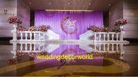 Yeni stil Toptan düğün davetiyeleri hint düğün sahne dekorasyon mandap çiçek duvar zemin decor0879 standı