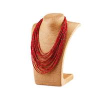 Bohemio de la vendimia exagerada de múltiples capas con cuentas collares de gota de agua collares de joyería de moda regalos para las mujeres al por menor al por mayor