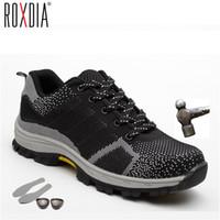 ROXDIA Marke plus Größe 39-48 Stahlkappe Männer arbeiten Sicherheitsstiefel Tarnung Stahl Zwischensohle stoßfest Frauen Schuhe RXM102