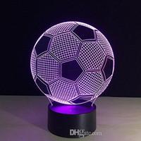 원 스포츠 축구 축구 3D 착시 램프 7 색 변경 터치 버튼 15 키 원격 제어 LED 테이블 책상 밤