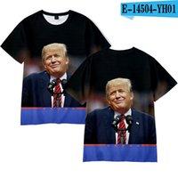 Homens Mulheres Donald Trump 2020 T-shirt O-Neck EUA Eleição de manga curta camisas Trump T-shirt engraçado Tops camiseta sobre o tamanho LJJA4070