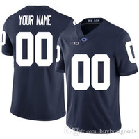 custom Penn State Nittany NCAA football jerseys any name num...