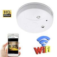 Detector de humo inalámbrico WiFi Cámara IP HD 1920 * 1080P detector de humo videocámara con detección de movimiento Cámara de vigilancia de seguridad de la casa