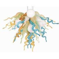 Decoração do casamento Longree Hot venda de teto de vidro Murano lustre colorido Art Cheap Vidro Luz frete grátis