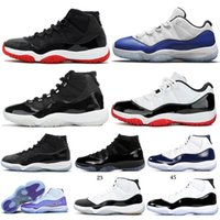 Nike Air Jordan Retro 11  Xi Mens Basketball alta Concord Heiress Platinum Tint Space Jam 11s Designer sneakers Tamanho 5,5-13
