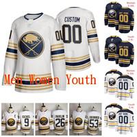 Cucita 2020 Mens personalizzato Buffalo Sabres Carter Hutton Jersey Linus Ullmark Jeff Skinner Victor Olofsson Sam Reinhart Hockey su ghiaccio Maglie