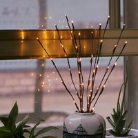 Decoração da árvore de Natal Ramo do salgueiro 20 Lâmpadas LED piscando Luz Cordas Alto Vaso Willow Twig Lamp Início Garden Party Decor VT0373