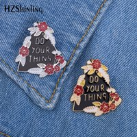 New Do Your Thing Enamel Pin Badge Flower Trees Brooch Silve...