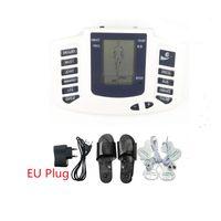 Full Body choque elétrico Massager Neck Braço Perna Voltar Relaxamento Muscular portátil dispositivo de terapia de estimulação estim TENS EMS Acupuntura Máquina