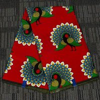 DERNIER PAISSON PAISE COULEUR RED ANKARA African Cire Imprimer Tissu Nouvelle Cire Binta Cire Tissu pour costume