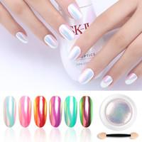 Tamax Na006 Chrome Perle Coquille Poudre Nail Art Pigment Pigment Poudre brillante longue Manucure Durée de la décoration Gel Polonais