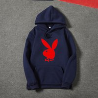 Playboy style men' s and women' s casual pullover ho...