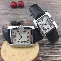Top brand Couple Luxury women men watches lovers' Leath...