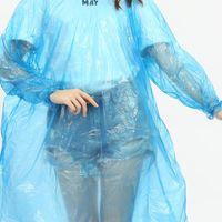 المتاح PE المطريه المعطف ملابس السفر المطر معطف المطر ارتداء المحمولة للماء المعطف للتجمع في الهواء الطلق RRA2858