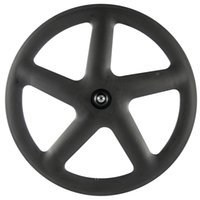 Fábrica de Carbono total de 5 Spoke Estrada / Fixo bicicleta Tubular / Clincher 3k Matte Falou Wheelset dianteiro e traseiro