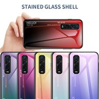 Ultra delgada del gradiente de color suaves Caso vidrio templado para el Oppo Find Pro X2 Realme 6 Pro A9 Reno 2 Z Realme 5
