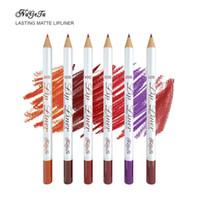 شفة بطانة قلم رصاص ناجيتا 6 اللون ماتي الشفاه بطانة واحدة دائم الخشب للماء سهلة لملونة أحمر الشفاه القلم شحن مجاني