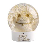 لوازم مهرجان لاكي القط كريستال الكرة زجاج ندفة الثلج الزجاج غلوب قديم كرة الماء الفنون الحرف هدايا عيد الميلاد دي إتش إل الحرة