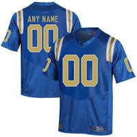 사용자 정의 남성 청소년 UCLA 브루 인스의 모든 이름 숫자 개인 키즈 남자 홈 원정 NCAA 대학 축구 유니폼