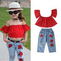 Ins Kids sets girls suits kids summer clothes girls boutique...