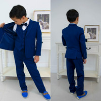 Indigo Boys Formal Suits Tuxedos Dinner Suit Three Piece Lit...