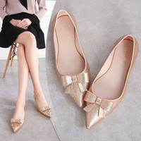 2019 Summer Jelly Flats Women Beach Sand Soft Pointy Toe Fla...