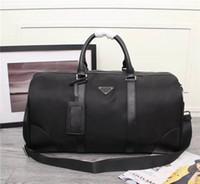Global frete grátis clássico pacote de luxo de couro de Lona de couro dos homens bolsa de viagem melhor qualidade bolsa 8001 tamanho 50 cm 28 cm 27 cm
