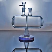 Großhandel Glas Bongs Unendlichkeit Wasserfall 7 Zoll Invertible Gravity Glaswasserpfeifen Öl Dab Rigs 14mm Male Joint Mit Schüssel