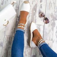 أحذية صيفية نسائية جديدة أحذية مريحة من جلد مدبوغ مسطح مريح 35-43 أحذية عادية زاباتوس Mujer مقاس 35-42