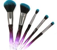 Trucco Mermaid Brushes di alta qualità Trucco 4 colori 5 pezzi per Blusher Beauty Spedizione gratuita