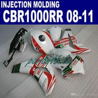 Inyección OEM nuevo juego de accesorios para carenados HONDA CBR1000RR 2008-2011 CBR1000 RR blanco rojo Castrol carenado kit 08 09 10 11 ZC14