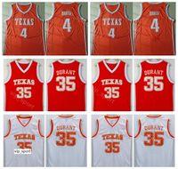 Texas Longhorns College Kevin Durant Jersey 35 uomini Basket 4 Mohamed Mo Bamba Jersey Università Bianco Arancione traspirante