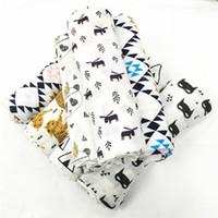 Дизайн модулей лиса медведь волк панда Муслина одеяло Аден Anais ребенка пеленать обертывание одеяло махровые детские младенческой одеяло DHL бесплатно