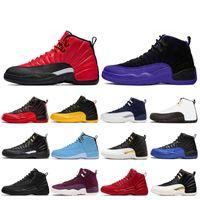 12 12s Chaussures de basket-ball Hommes Chaussures Doernbecher inverse Taxi Royal Game Français bleu FIBA entraîneurs des hommes de sport Chaussures  sport 7-13