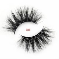 Largo Visón Dramático Lashes 3D Mink Eyelash 25mm Long Thick Mink Lashes Handmade False Eyelash Maquillaje de ojos Maquiagem style E88
