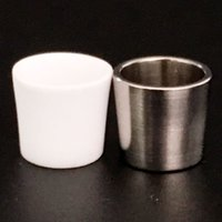 Commerci all'ingrosso Peak Quartz Inserire Bowl titanio ciotola pezzo con pelle spessa quarzo Peak Inserti ciotole per Tabacco Dab Strumento