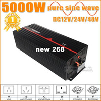 Geen verzendkosten ! 5000W Pure Sinus Wave Inverter DC naar AC Power Inverters, 10000W Peak Power, Off Grid Wind Solar System Inverter