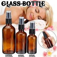 30ml / 50ml / 100ml portatili ambrato Bottiglie di vetro olio essenziale dello spruzzo atomizzatore Contenitore di viaggio ricaricabile Outdoor idratazione