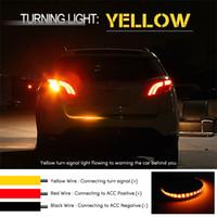 Evrensel Esnek Araba Kuyruk LED Şerit Araba-styling sarı dönüş sinyali Led şerit Işık için Tailgate şerit flaş takip LED Işık