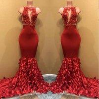 Реальный образец красное платье выпускного вечера русалки великолепный прозрачный кружевной топ из бисера листья ручной работы африканские черные девушки длинные выпускные платья