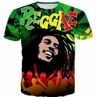 Più nuovo popolare cantante Reggae Bob Marley maglietta uomo donna unisex divertente stampa 3d estate manica corta o collo girocollo casual top A98