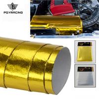 PQY - САМОКЛЕЯЩИЙСЯ ОТКРЫТЫЙ ТЕПЛОВОЙ БАРЬЕР REFLECT-A-GOLD Высокое качество 39in.x 47 дюймов. Для VW PASSAT AUDI A4 B6 с картой PQY 1614