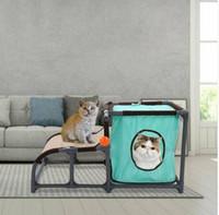оптовые продажи Съемные Многофункциональный Cat Tree Pet Cat Bed Дом Туннель с подвесной игрушки
