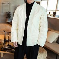 Мужские Parkas ywsrlm 2021 осень зима мужчина повседневная теплые пальто мужчины япония кимоно стиль куртка Streetwear мода Parka