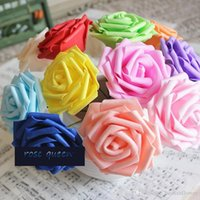 8CM محاكاة PE زهرة مع الورود رؤساء زهرة الزهور صناديق الحلوى الزفاف والاكسسوارات والديكور الزفاف