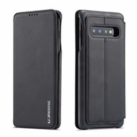 LC.IMEEKE para Samsung Galaxy S7 Edge S8 S9 S10 plus S10E 5G Note 8 9 Funda para teléfono Funda de lujo Cartera Flip Funda de cuero con soporte para tarjeta