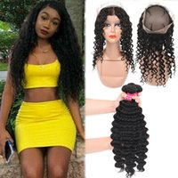9A RemyPeruvian Hair Loose Wave 3 Bundles With 360 Full Lace...