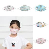 Cara niños Máscara animal de la historieta Unicornio impreso máscara de polvo lavable boca máscara máscaras de protección reutilizable manera de los niños de tela Escudo 7-15T
