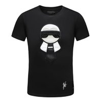 2019 Fashion Luxury Designer T Shirt Nero Bianco Moda Estate Uomo T Shirt Estate Cotone Tees Skateboard Hip Hop Streetwear Taglia M-XXXL